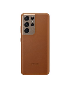 Samsung Galaxy S21 Ultra Leather Cover-BROWN